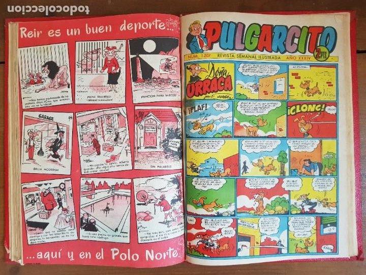 Tebeos: LOTE 9 TEBEOS/CÓMIC TOMO ORIGINAL DDT ALMANAQUE 1955 (1) PULGARCITO 1955 BRUGUERA 1207-1212 TRUENO - Foto 12 - 219585306