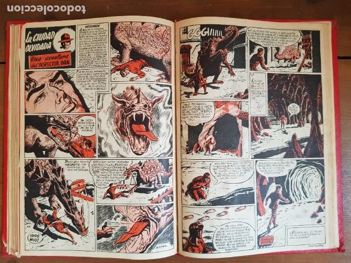 Tebeos: LOTE 9 TEBEOS/CÓMIC TOMO ORIGINAL DDT ALMANAQUE 1955 (1) PULGARCITO 1955 BRUGUERA 1207-1212 TRUENO - Foto 13 - 219585306