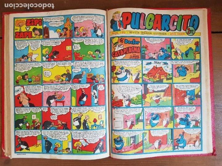 Tebeos: LOTE 9 TEBEOS/CÓMIC TOMO ORIGINAL DDT ALMANAQUE 1955 (1) PULGARCITO 1955 BRUGUERA 1207-1212 TRUENO - Foto 14 - 219585306