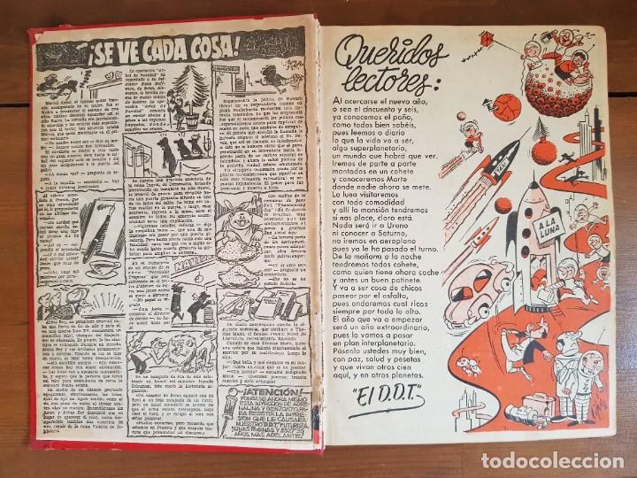 Tebeos: LOTE 13 TEBEOS/CÓMIC TOMO ORIGINAL DDT ALMANAQUE 1956 (2) PULGARCITO 1955 BRUGUERA I. DAN C. TRUENO - Foto 5 - 219586678