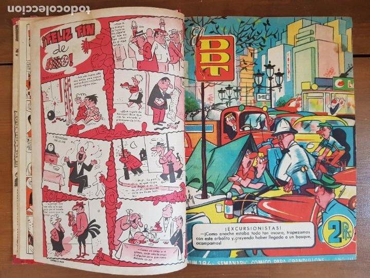 Tebeos: LOTE 13 TEBEOS/CÓMIC TOMO ORIGINAL DDT ALMANAQUE 1956 (2) PULGARCITO 1955 BRUGUERA I. DAN C. TRUENO - Foto 7 - 219586678