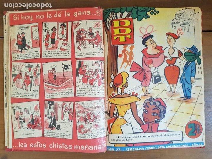 Tebeos: LOTE 13 TEBEOS/CÓMIC TOMO ORIGINAL DDT ALMANAQUE 1956 (2) PULGARCITO 1955 BRUGUERA I. DAN C. TRUENO - Foto 9 - 219586678