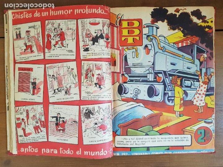 Tebeos: LOTE 13 TEBEOS/CÓMIC TOMO ORIGINAL DDT ALMANAQUE 1956 (2) PULGARCITO 1955 BRUGUERA I. DAN C. TRUENO - Foto 10 - 219586678