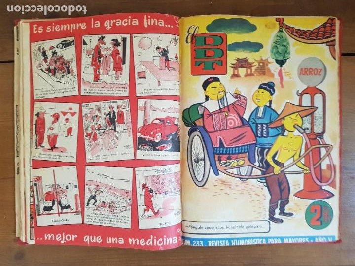 Tebeos: LOTE 13 TEBEOS/CÓMIC TOMO ORIGINAL DDT ALMANAQUE 1956 (2) PULGARCITO 1955 BRUGUERA I. DAN C. TRUENO - Foto 11 - 219586678