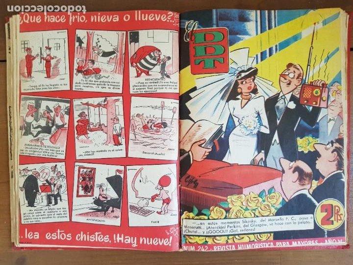 Tebeos: LOTE 13 TEBEOS/CÓMIC TOMO ORIGINAL DDT ALMANAQUE 1956 (2) PULGARCITO 1955 BRUGUERA I. DAN C. TRUENO - Foto 13 - 219586678