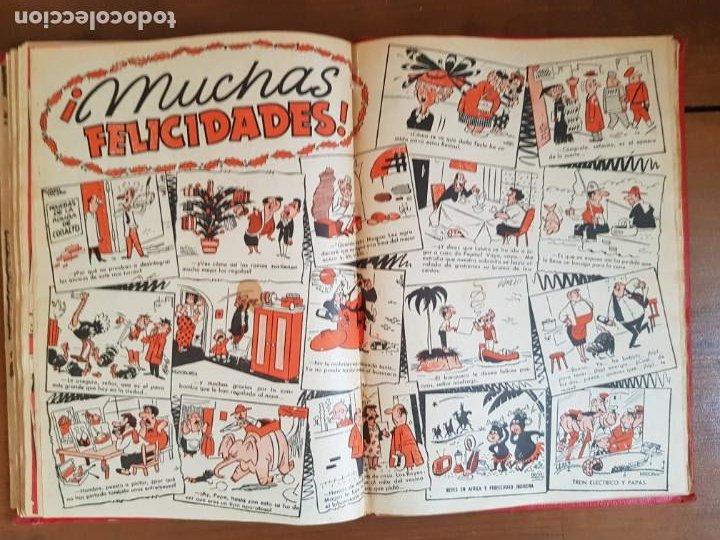 Tebeos: LOTE 13 TEBEOS/CÓMIC TOMO ORIGINAL DDT ALMANAQUE 1956 (2) PULGARCITO 1955 BRUGUERA I. DAN C. TRUENO - Foto 16 - 219586678