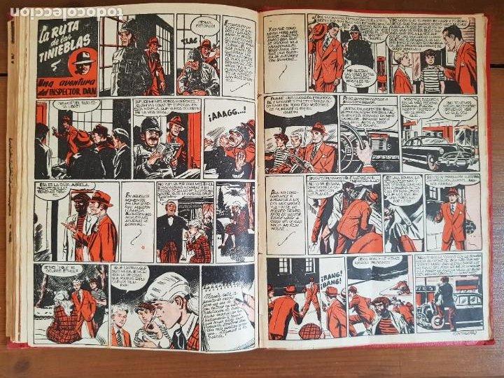 Tebeos: LOTE 13 TEBEOS/CÓMIC TOMO ORIGINAL DDT ALMANAQUE 1956 (2) PULGARCITO 1955 BRUGUERA I. DAN C. TRUENO - Foto 18 - 219586678