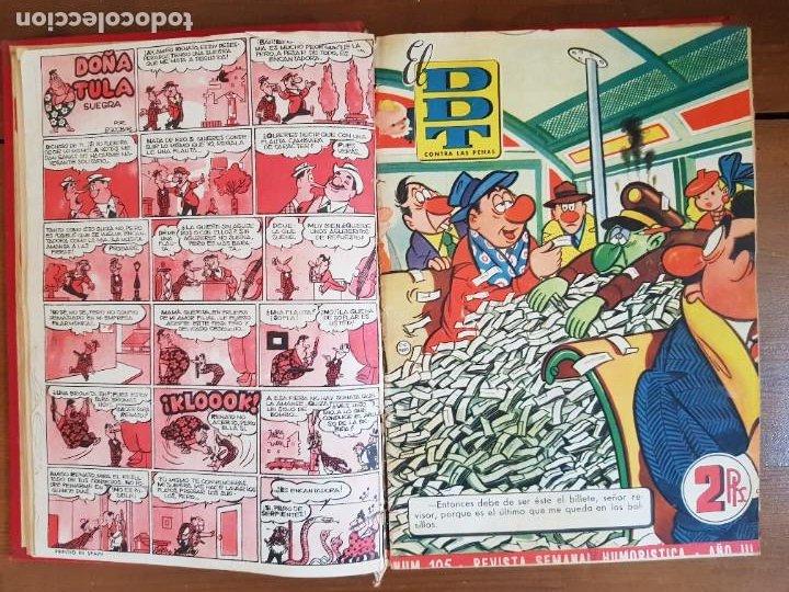 Tebeos: LOTE 19 TEBEOS/CÓMIC TOMO ORIGINAL DDT ALMANAQUE 1954 NAVIDAD (3) 1953 BRUGUERA ENCUADERNADO - Foto 7 - 219588477