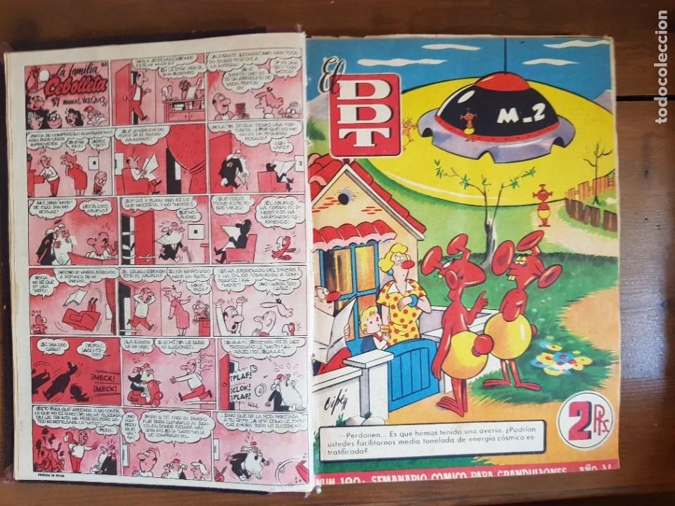 Tebeos: LOTE 25 TEBEOS/CÓMIC TOMO ORIGINAL DDT (5) 1955 BRUGUERA ENCUADERNADO - Foto 5 - 219594012