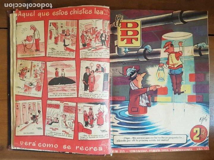 Tebeos: LOTE 25 TEBEOS/CÓMIC TOMO ORIGINAL DDT (5) 1955 BRUGUERA ENCUADERNADO - Foto 8 - 219594012
