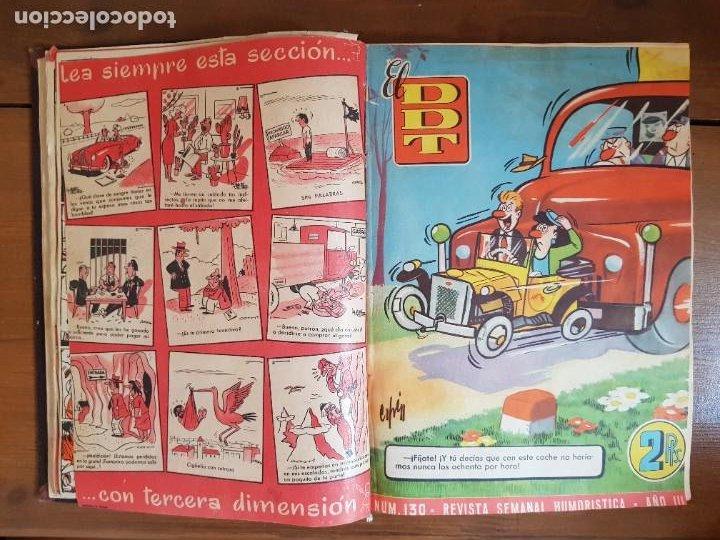 Tebeos: LOTE 25 TEBEOS/CÓMIC TOMO ORIGINAL DDT (5) 1955 BRUGUERA ENCUADERNADO - Foto 9 - 219594012