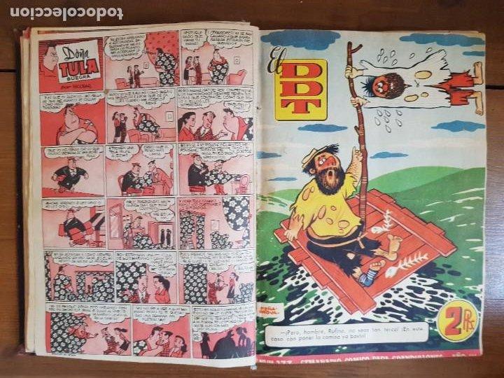 Tebeos: LOTE 25 TEBEOS/CÓMIC TOMO ORIGINAL DDT (5) 1955 BRUGUERA ENCUADERNADO - Foto 10 - 219594012