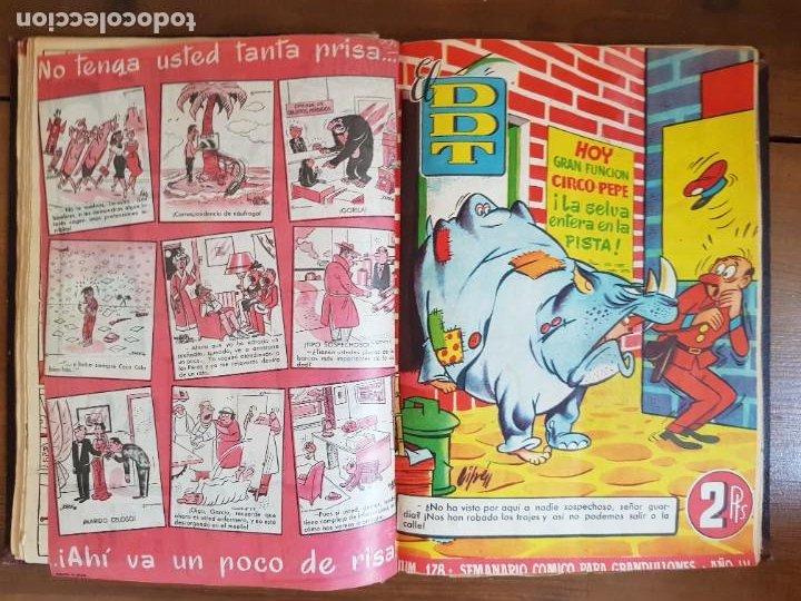 Tebeos: LOTE 25 TEBEOS/CÓMIC TOMO ORIGINAL DDT (5) 1955 BRUGUERA ENCUADERNADO - Foto 12 - 219594012