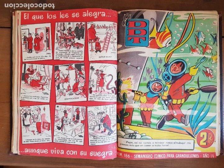 Tebeos: LOTE 25 TEBEOS/CÓMIC TOMO ORIGINAL DDT (5) 1955 BRUGUERA ENCUADERNADO - Foto 13 - 219594012