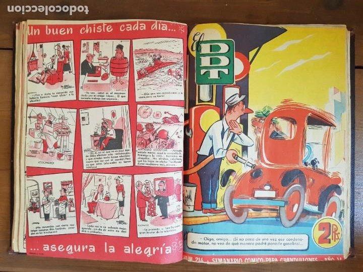 Tebeos: LOTE 25 TEBEOS/CÓMIC TOMO ORIGINAL DDT (5) 1955 BRUGUERA ENCUADERNADO - Foto 14 - 219594012