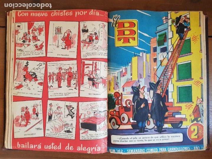 Tebeos: LOTE 25 TEBEOS/CÓMIC TOMO ORIGINAL DDT (5) 1955 BRUGUERA ENCUADERNADO - Foto 15 - 219594012