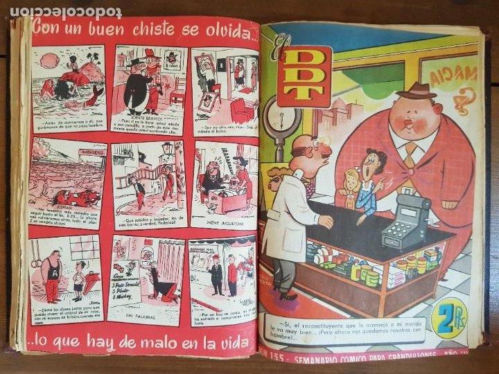 Tebeos: LOTE 25 TEBEOS/CÓMIC TOMO ORIGINAL DDT (5) 1955 BRUGUERA ENCUADERNADO - Foto 17 - 219594012