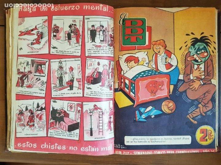 Tebeos: LOTE 25 TEBEOS/CÓMIC TOMO ORIGINAL DDT (5) 1955 BRUGUERA ENCUADERNADO - Foto 19 - 219594012