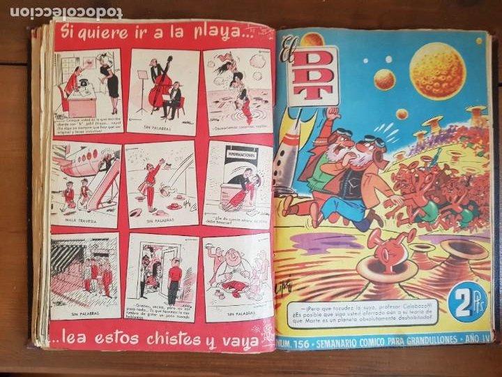 Tebeos: LOTE 25 TEBEOS/CÓMIC TOMO ORIGINAL DDT (5) 1955 BRUGUERA ENCUADERNADO - Foto 20 - 219594012