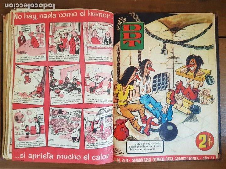Tebeos: LOTE 25 TEBEOS/CÓMIC TOMO ORIGINAL DDT (5) 1955 BRUGUERA ENCUADERNADO - Foto 22 - 219594012