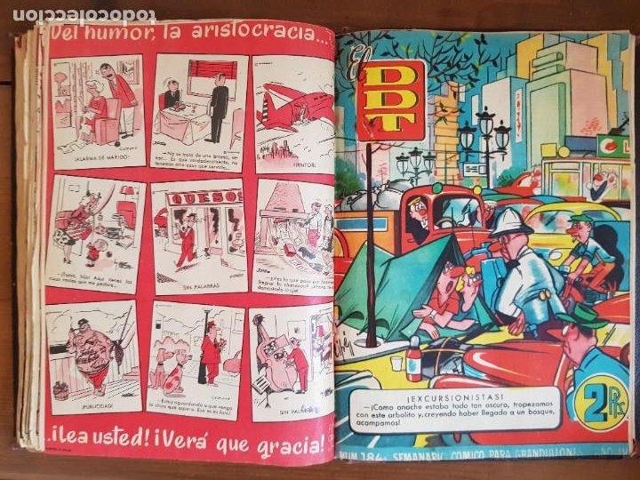 Tebeos: LOTE 25 TEBEOS/CÓMIC TOMO ORIGINAL DDT (5) 1955 BRUGUERA ENCUADERNADO - Foto 23 - 219594012
