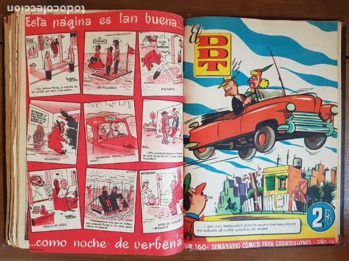 Tebeos: LOTE 25 TEBEOS/CÓMIC TOMO ORIGINAL DDT (5) 1955 BRUGUERA ENCUADERNADO - Foto 24 - 219594012