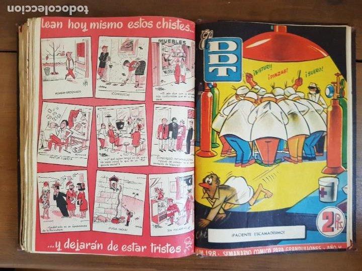 Tebeos: LOTE 25 TEBEOS/CÓMIC TOMO ORIGINAL DDT (5) 1955 BRUGUERA ENCUADERNADO - Foto 26 - 219594012