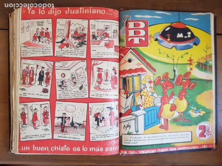 Tebeos: LOTE 25 TEBEOS/CÓMIC TOMO ORIGINAL DDT (5) 1955 BRUGUERA ENCUADERNADO - Foto 27 - 219594012