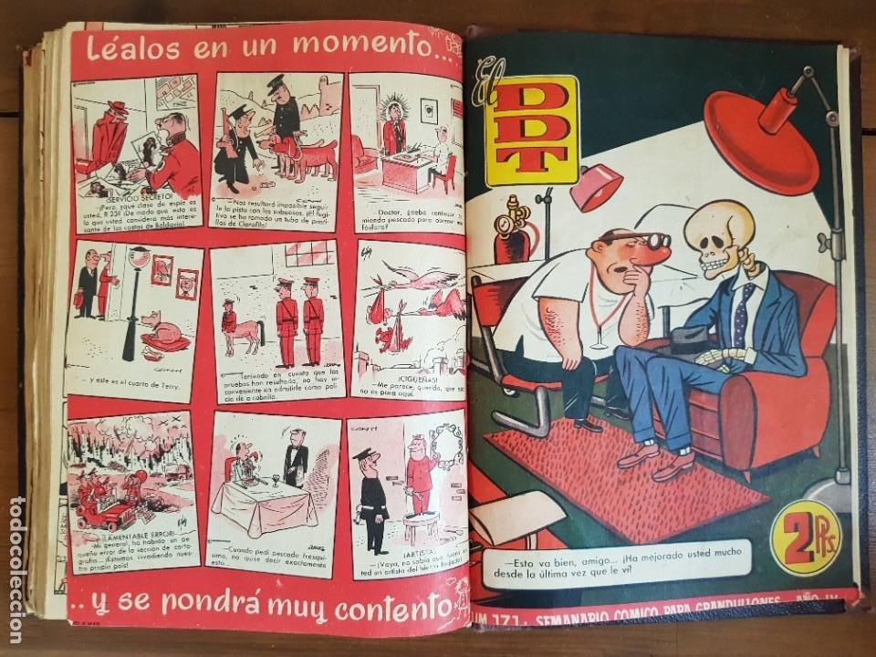 Tebeos: LOTE 25 TEBEOS/CÓMIC TOMO ORIGINAL DDT (5) 1955 BRUGUERA ENCUADERNADO - Foto 28 - 219594012