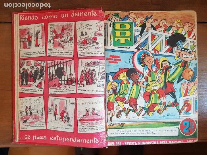 Tebeos: LOTE 26 TEBEOS/CÓMIC TOMO ORIGINAL DDT ALMANAQUE 1957 (6) 1956 BRUGUERA ENCUADERNADO NAVIDAD - Foto 6 - 219595536