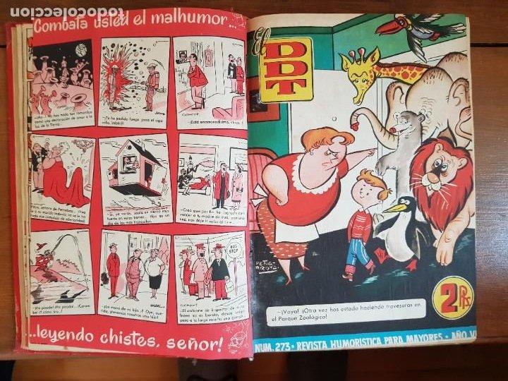 Tebeos: LOTE 26 TEBEOS/CÓMIC TOMO ORIGINAL DDT ALMANAQUE 1957 (6) 1956 BRUGUERA ENCUADERNADO NAVIDAD - Foto 9 - 219595536