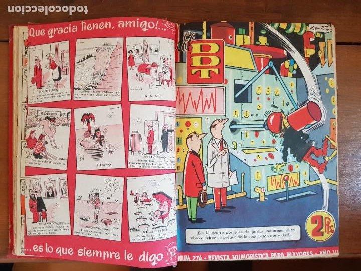 Tebeos: LOTE 26 TEBEOS/CÓMIC TOMO ORIGINAL DDT ALMANAQUE 1957 (6) 1956 BRUGUERA ENCUADERNADO NAVIDAD - Foto 10 - 219595536