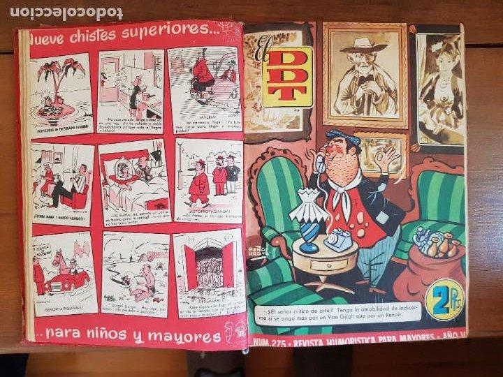 Tebeos: LOTE 26 TEBEOS/CÓMIC TOMO ORIGINAL DDT ALMANAQUE 1957 (6) 1956 BRUGUERA ENCUADERNADO NAVIDAD - Foto 11 - 219595536