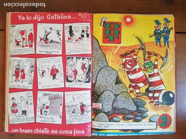Tebeos: LOTE 26 TEBEOS/CÓMIC TOMO ORIGINAL DDT ALMANAQUE 1957 (6) 1956 BRUGUERA ENCUADERNADO NAVIDAD - Foto 13 - 219595536
