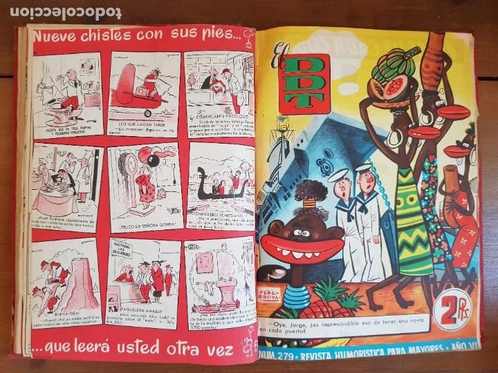 Tebeos: LOTE 26 TEBEOS/CÓMIC TOMO ORIGINAL DDT ALMANAQUE 1957 (6) 1956 BRUGUERA ENCUADERNADO NAVIDAD - Foto 15 - 219595536