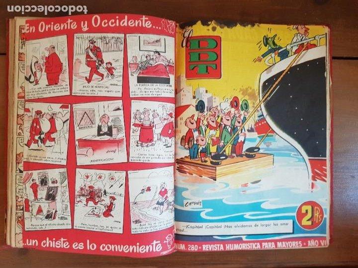 Tebeos: LOTE 26 TEBEOS/CÓMIC TOMO ORIGINAL DDT ALMANAQUE 1957 (6) 1956 BRUGUERA ENCUADERNADO NAVIDAD - Foto 16 - 219595536