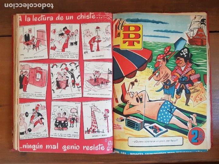 Tebeos: LOTE 26 TEBEOS/CÓMIC TOMO ORIGINAL DDT ALMANAQUE 1957 (6) 1956 BRUGUERA ENCUADERNADO NAVIDAD - Foto 17 - 219595536
