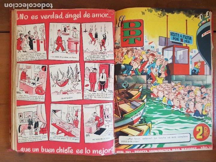 Tebeos: LOTE 26 TEBEOS/CÓMIC TOMO ORIGINAL DDT ALMANAQUE 1957 (6) 1956 BRUGUERA ENCUADERNADO NAVIDAD - Foto 18 - 219595536