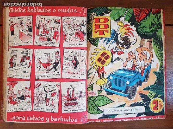 Tebeos: LOTE 26 TEBEOS/CÓMIC TOMO ORIGINAL DDT ALMANAQUE 1957 (6) 1956 BRUGUERA ENCUADERNADO NAVIDAD - Foto 19 - 219595536