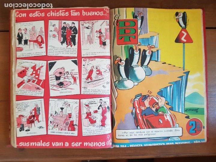 Tebeos: LOTE 26 TEBEOS/CÓMIC TOMO ORIGINAL DDT ALMANAQUE 1957 (6) 1956 BRUGUERA ENCUADERNADO NAVIDAD - Foto 20 - 219595536