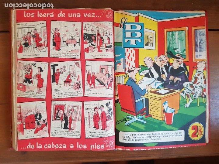 Tebeos: LOTE 26 TEBEOS/CÓMIC TOMO ORIGINAL DDT ALMANAQUE 1957 (6) 1956 BRUGUERA ENCUADERNADO NAVIDAD - Foto 21 - 219595536