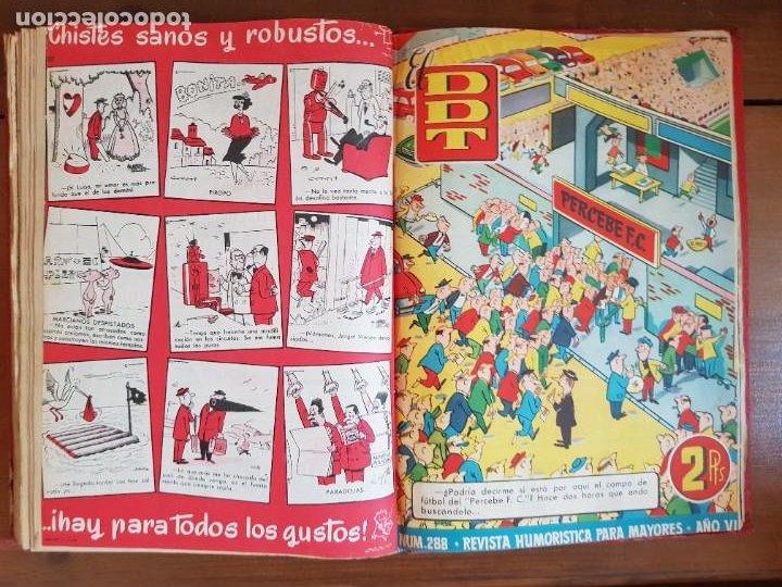 Tebeos: LOTE 26 TEBEOS/CÓMIC TOMO ORIGINAL DDT ALMANAQUE 1957 (6) 1956 BRUGUERA ENCUADERNADO NAVIDAD - Foto 24 - 219595536