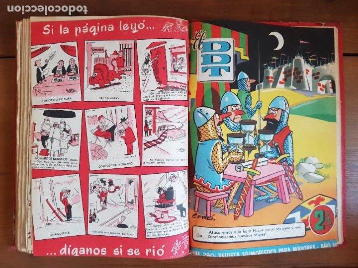 Tebeos: LOTE 26 TEBEOS/CÓMIC TOMO ORIGINAL DDT ALMANAQUE 1957 (6) 1956 BRUGUERA ENCUADERNADO NAVIDAD - Foto 26 - 219595536
