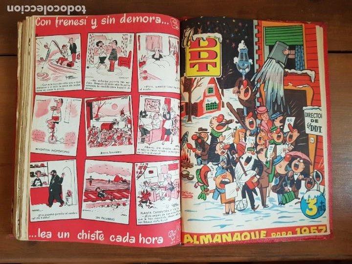 Tebeos: LOTE 26 TEBEOS/CÓMIC TOMO ORIGINAL DDT ALMANAQUE 1957 (6) 1956 BRUGUERA ENCUADERNADO NAVIDAD - Foto 29 - 219595536