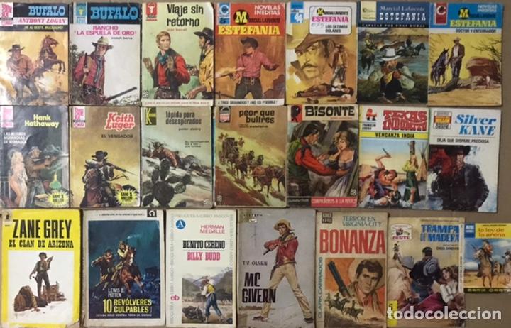 LOTE 22 BOLSILIBROS BRUGUERA OESTE - TRAMPA DE MADERA, ESTEFANIA MARCIAL LAFUENTE ZANE GREY BONANZA (Tebeos y Comics - Bruguera - Otros)