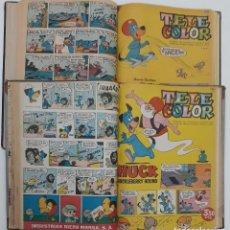 Livros de Banda Desenhada: TELE COLOR BRUGUERA, ENCUADERNADO, 2 TOMOS (1 AL 50) 1963 MÁS ALMANAQUE PARA EL 1964. Lote 220106048