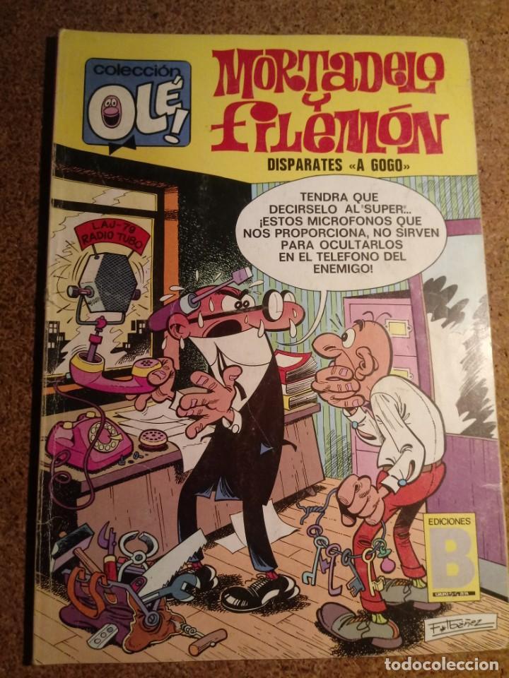COMIC DE OLE MORTADELO Y FILEMÓN EN DISPARATES A GOGO DEL AÑO 1987 Nº 90 - M18 (Tebeos y Comics - Bruguera - Ole)