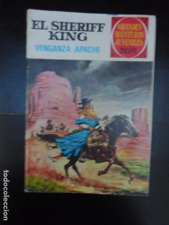 GRANDES AVENTURAS JUVENILES EL SHERIFF KING Nº 12 VENGANZA APACHE BRUGUERA (Tebeos y Comics - Bruguera - Sheriff King)