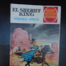 Tebeos: GRANDES AVENTURAS JUVENILES EL SHERIFF KING Nº 12 VENGANZA APACHE BRUGUERA. Lote 220434078