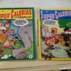 Tebeos: SUPER GALERIAS DEL HUMOR - NºS 1 Y 2. Lote 220436010